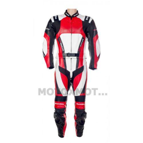 Кожаный мотокомбинезон BlackBike PRO SERIES Red