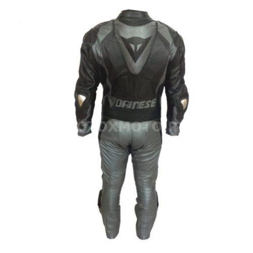 Dainese Black & Gun Metal кожаный мотокомбинезон