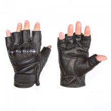 Кожаные мотоперчатки без пальцев
