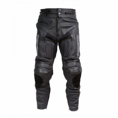 Мотоштаны кожаные Ivagio, цвет черный, мужские