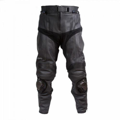 Мотоштаны кожаные Ivagio, мужские цвет черный