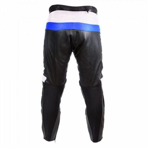 Мотоштаны кожаные Ivagio, мужские цвет черно-синий