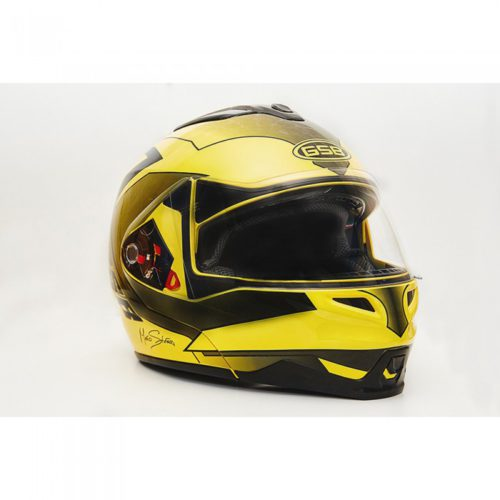Шлем модуляр GSB G-339 Yellow Black