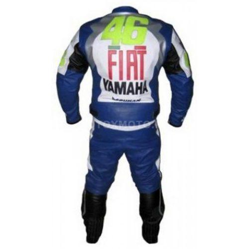Yamaha FIAT Blue кожаный мотокомбинезон