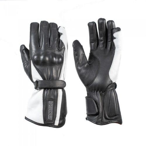 Кожаные мотоперчатки BOSA Adele Black White