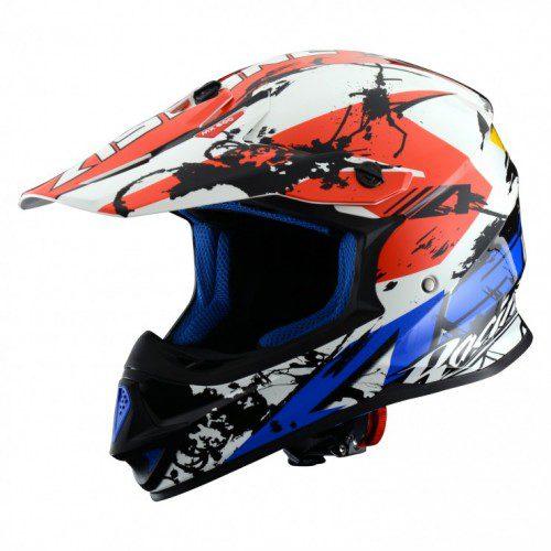 Мотошлем кроссовый MX600 GIANT white blue red (белый/синий/красный)