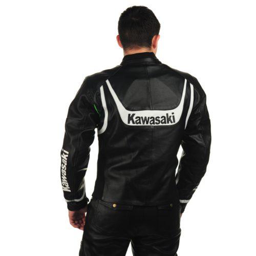 Кожаная мотокуртка KAWASAKI replica