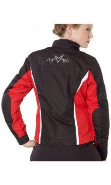 Мотокуртка текстильная женская NERVE Unique Star Ladies Touring Jacket (черный-белый-красный)