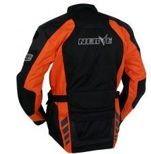 Мотокуртка текстильная NERVE Spark Touring Jacket (черный-оранжевый)