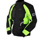 Мотокуртка текстильная NERVE Spark Touring Jacket (черный-зеленый)