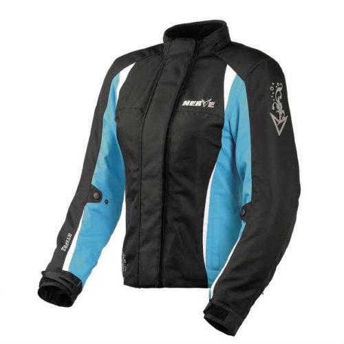 Мотокуртка текстильная женская NERVE Unique Star Ladies Touring Jacket (черный-белый-голубой)