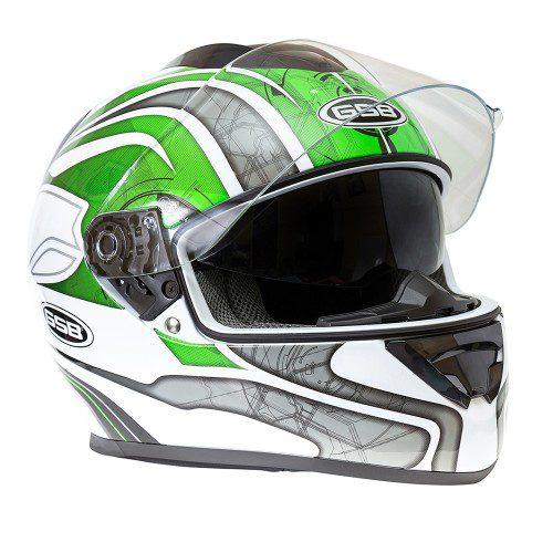 Шлем интеграл GSB G-350 GREEN-WHITE