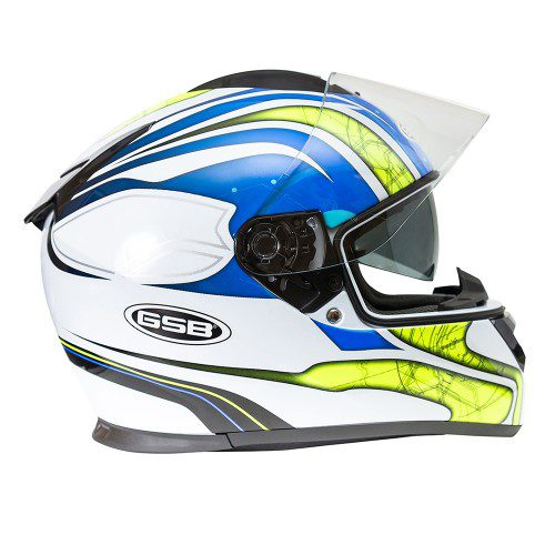 Шлем интеграл GSB G-350 BLUE-YELLOW