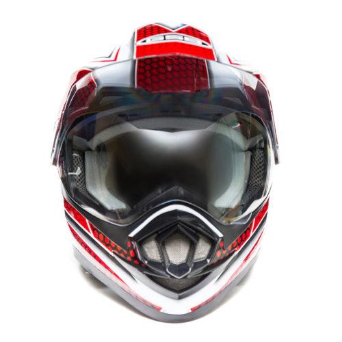 Кроссовый шлем GSB XP-14 A White Red