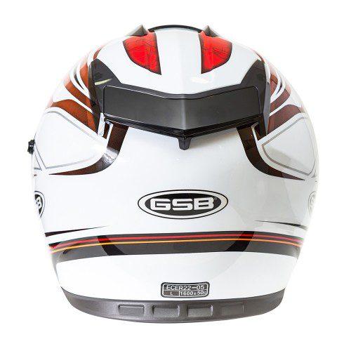 Шлем интеграл GSB G-350 RED-WHITE