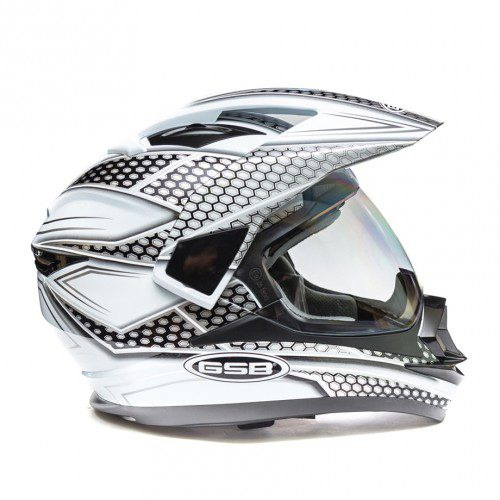 Кроссовый шлем GSB XP-14 A White Black