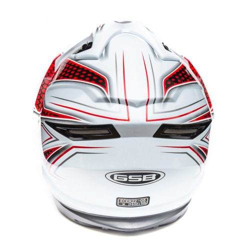Открытый шлем GSB G-240 WHITE GLOSSY