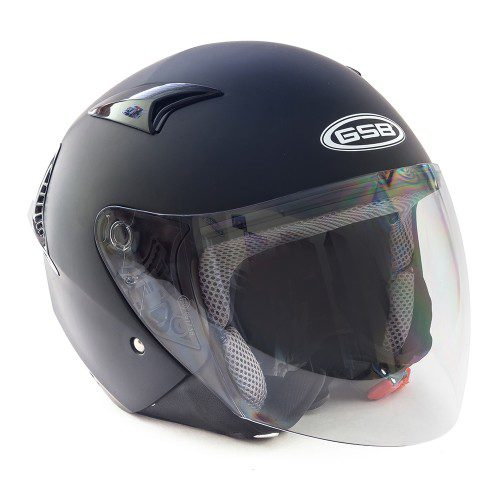 Открытый шлем GSB G-240 BLACK MATT