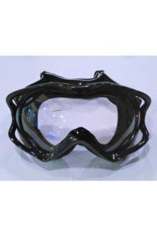 Очки кроссовые (mod:MJ-11, черные с прозрачным стеклом)