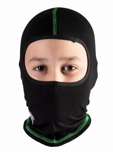 Подшлемник детский HYPERLOOK Pancher Kids (зеленая строчка)