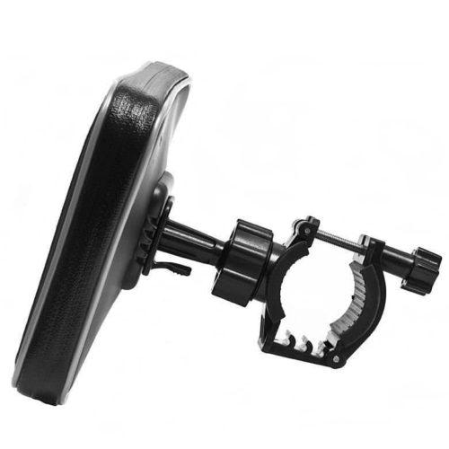 Чехол для телефона навигатора TAB 155x77x20 с креплением на руль (с козырьком)