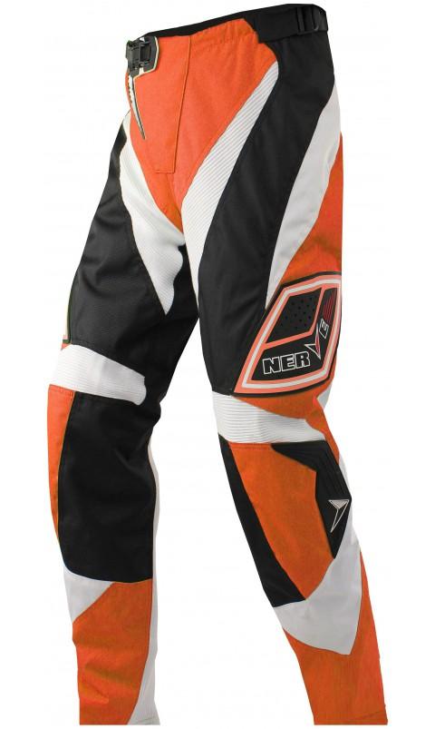 Мотоштаны текстильные NERVE NY12 (оранж-бело-черн)