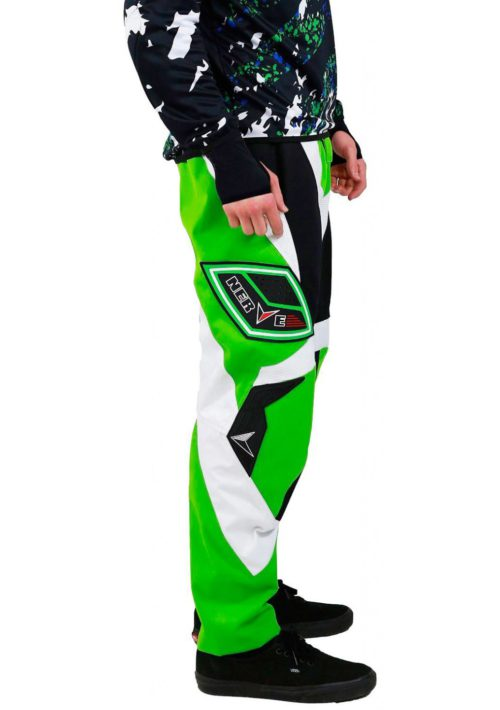Мотоштаны текстильные NERVE NY12 (зелен-бело-черн)