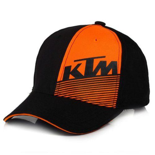 """Бейсболка   """"KTM""""   (черно-оранжевая, 100% хлопок)"""