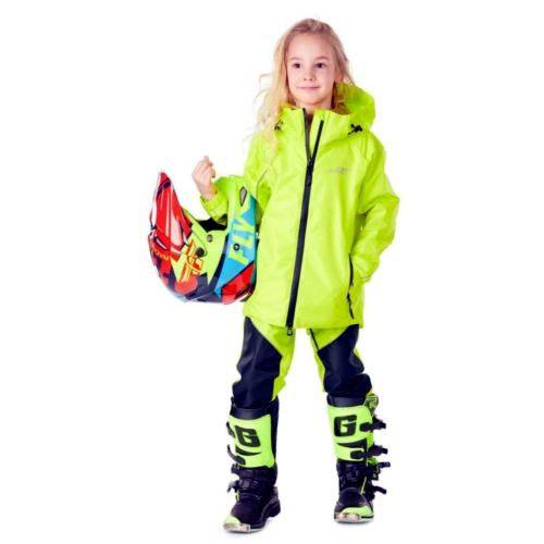 ДЕТСКИЙ КОМПЛЕКТ ДОЖДЕВОЙ (куртка, брюки) DRAGONFLY EVO Kids YELLOW (мембрана)