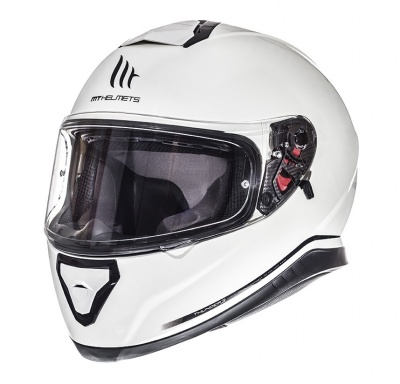 ШЛЕМ ИНТЕГРАЛ MT THUNDER 3 SV single mono GLOSS PERL WHITE