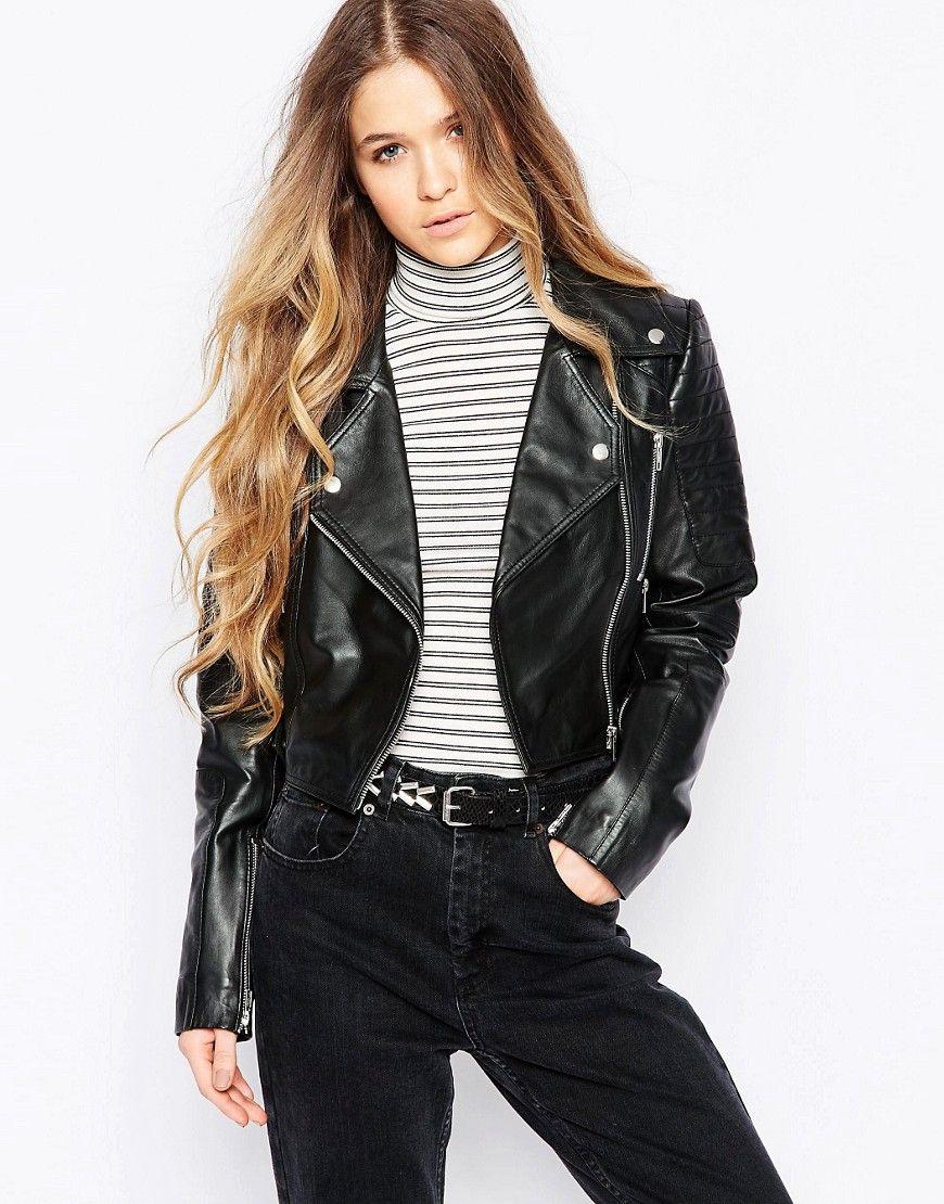 Женская байкерская куртка