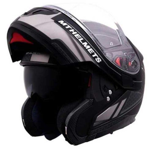 Шлем MT ATOM SV RACELINE EVO MATT BLACK/GREY